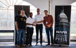 Maserati accepts the WAPA 2019 Rally Award